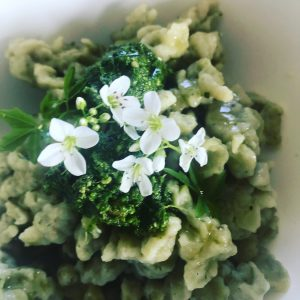 wild garlic and nettle nockerl